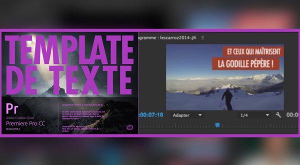 template texte premiere pro CC