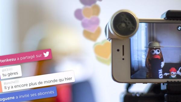 Filmer une vidéo live avec un iPhone